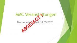Motorrad Ausfahrt abgesagt